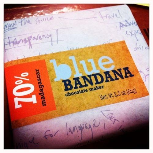 Blue Bandana micro-batch bean to bar chocolate maker in Vermont.