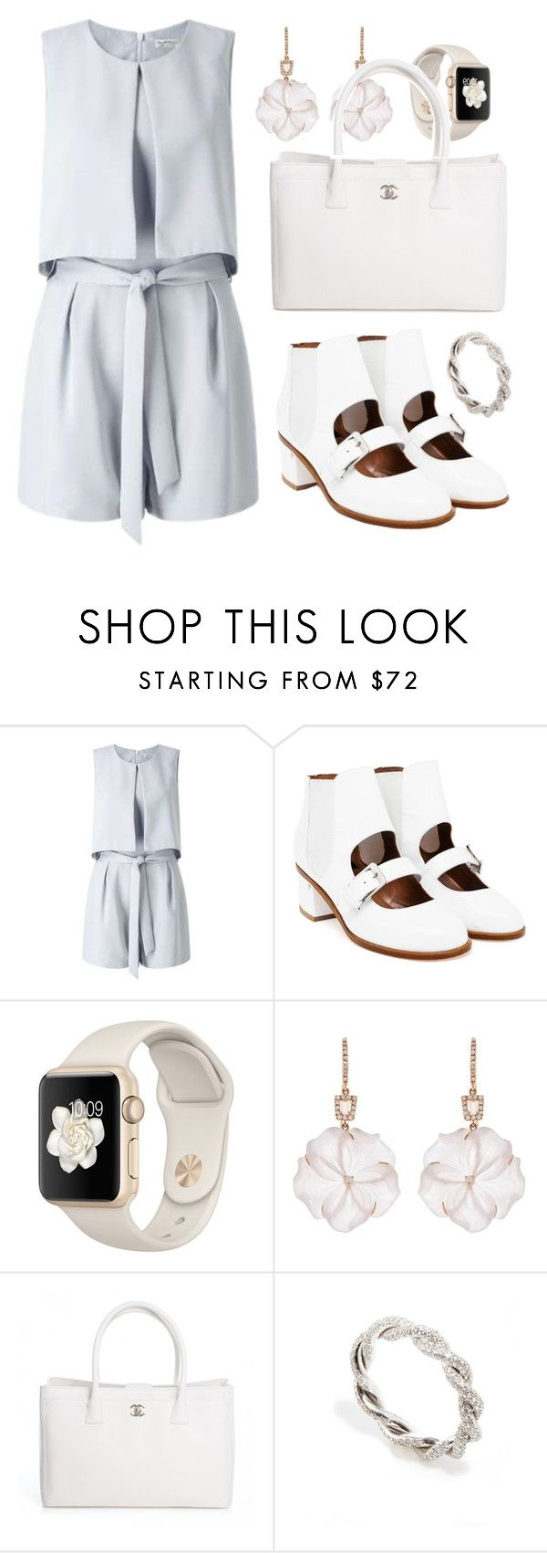 """""""2537"""" by alex94a ❤ liked on Polyvore featuring Miss Selfridge, Laurence Dacade, NSR Nina Runsdorf and Chanel"""