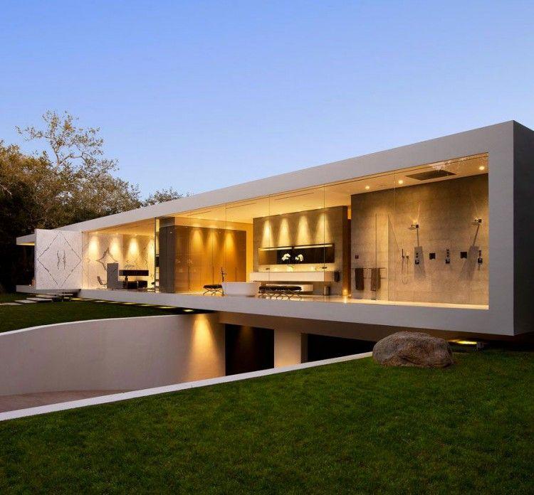 O pavilhao de vidro uma casa ultra moderna steve for Casa ultramoderna