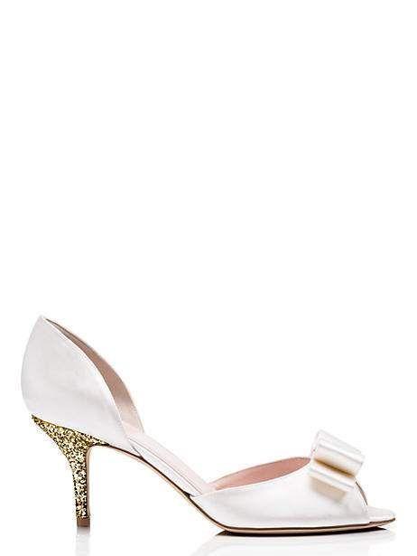 Kate Spade Sela Heels, Ivory - Size 10