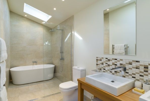 Like The Skylight But Would It Be Too Cold In Winter And Lose Heat? Like  The Bath But How To Clean Around The Back And Sides? Love The Shower/bath  And Glass ...