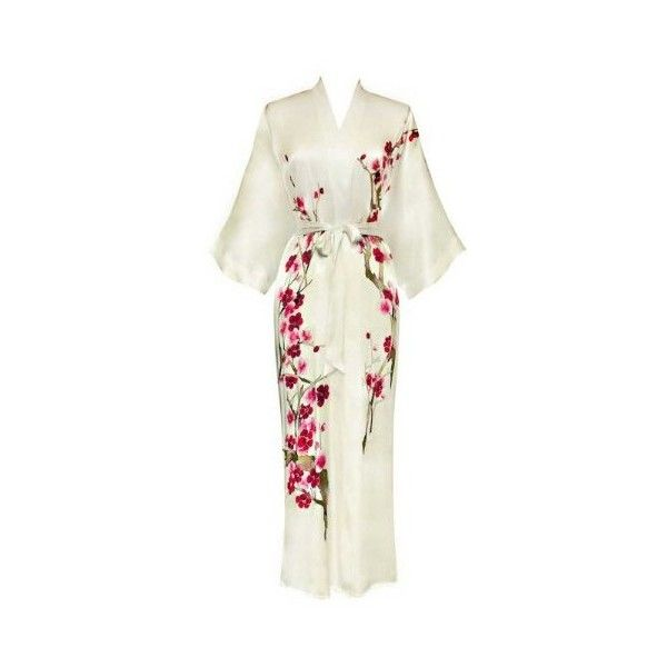 Silk Kimono- Handpainted (Long) ($100) ❤ liked on Polyvore ...