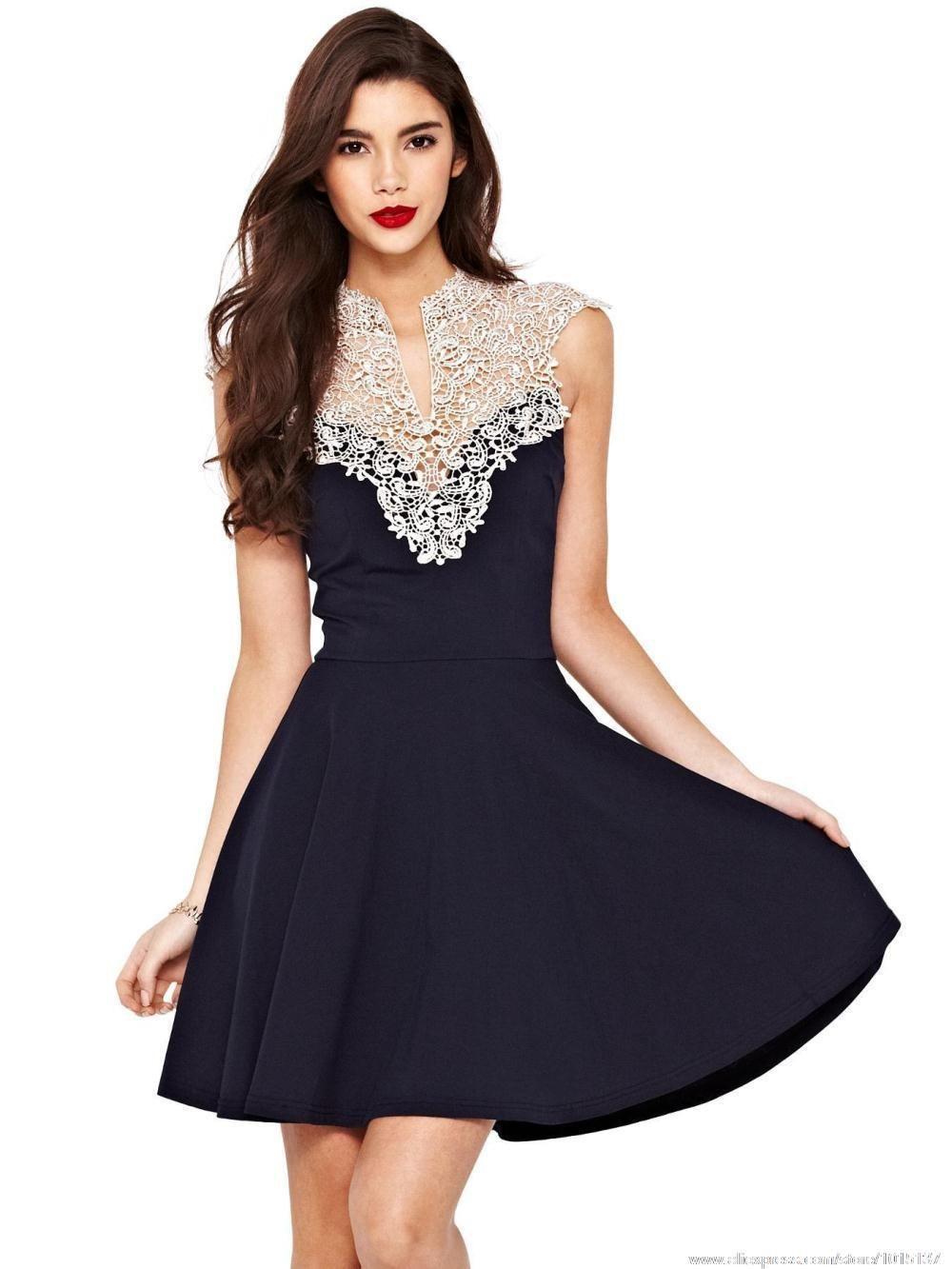 New 2015 European American Apparel Sleeveless Crochet Sexy Lace Dresses  Vestido De Renda Festa Curto Ropa Mujer Borsa Hot Sale d0e0c2c4b