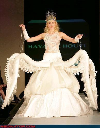Funny Wedding Dress Fashion Wallpaper