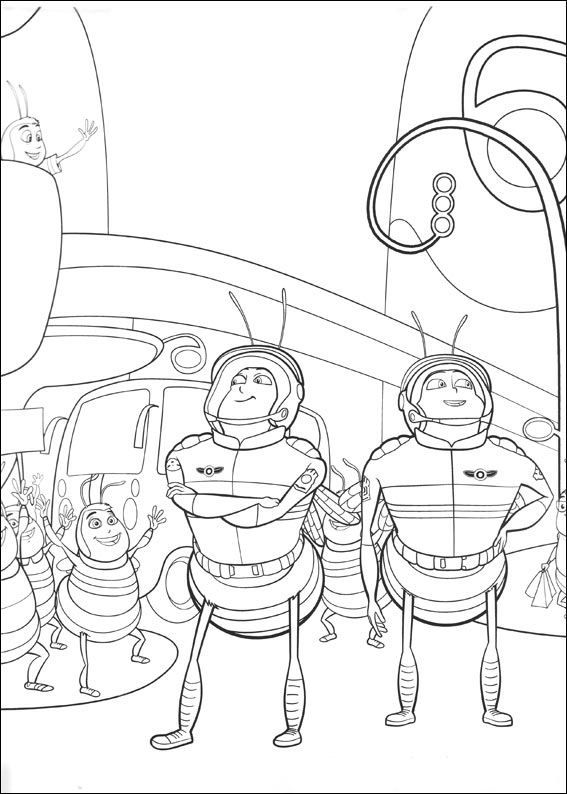 Bee Movie Coloring Page 4 Is A From BookLet Your Children Express Their Imagination When They Color The