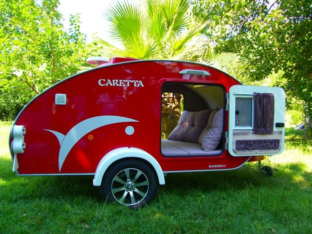 roter caretta mini caravan 1500 rv 39 s and campers pinterest wohnmobil anh nger und camping. Black Bedroom Furniture Sets. Home Design Ideas