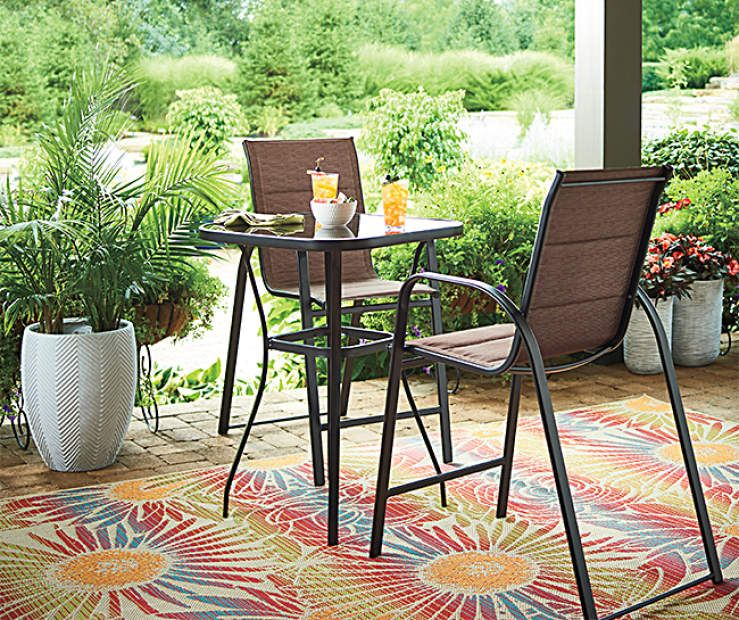 Tremendous Wilson Fisher Aspen 3 Piece High Bistro Patio Dining Set Ocoug Best Dining Table And Chair Ideas Images Ocougorg