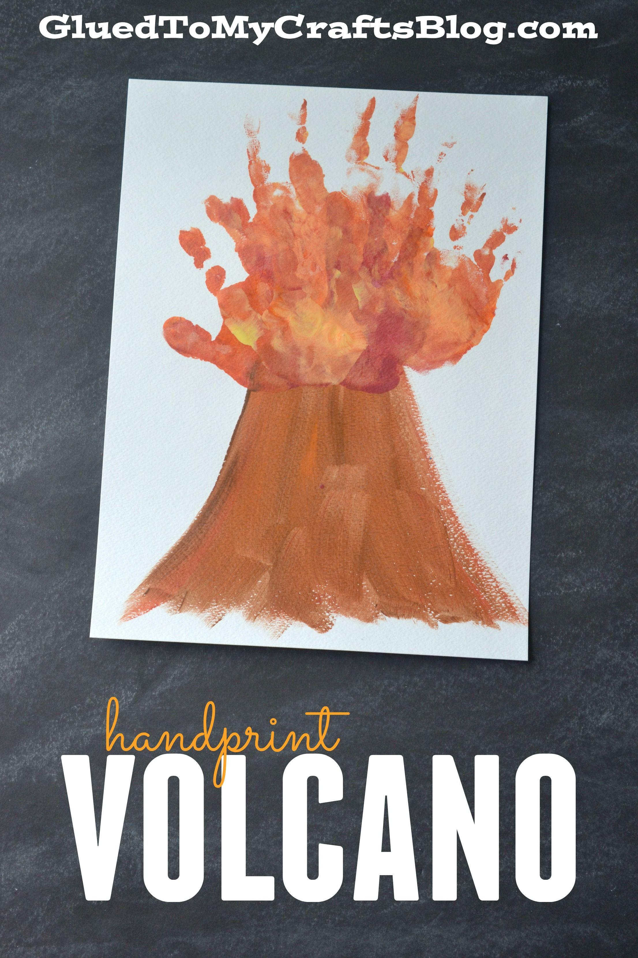 Handprint Volcano Keepsake Hawaiian Crafts Letter V Crafts