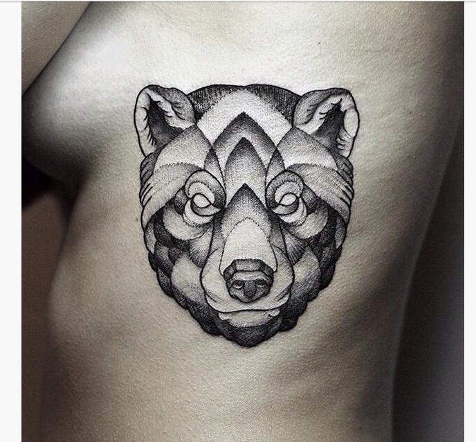 15 Geometric Animal Tattoos Tattoo Geometric Bear Tattoo