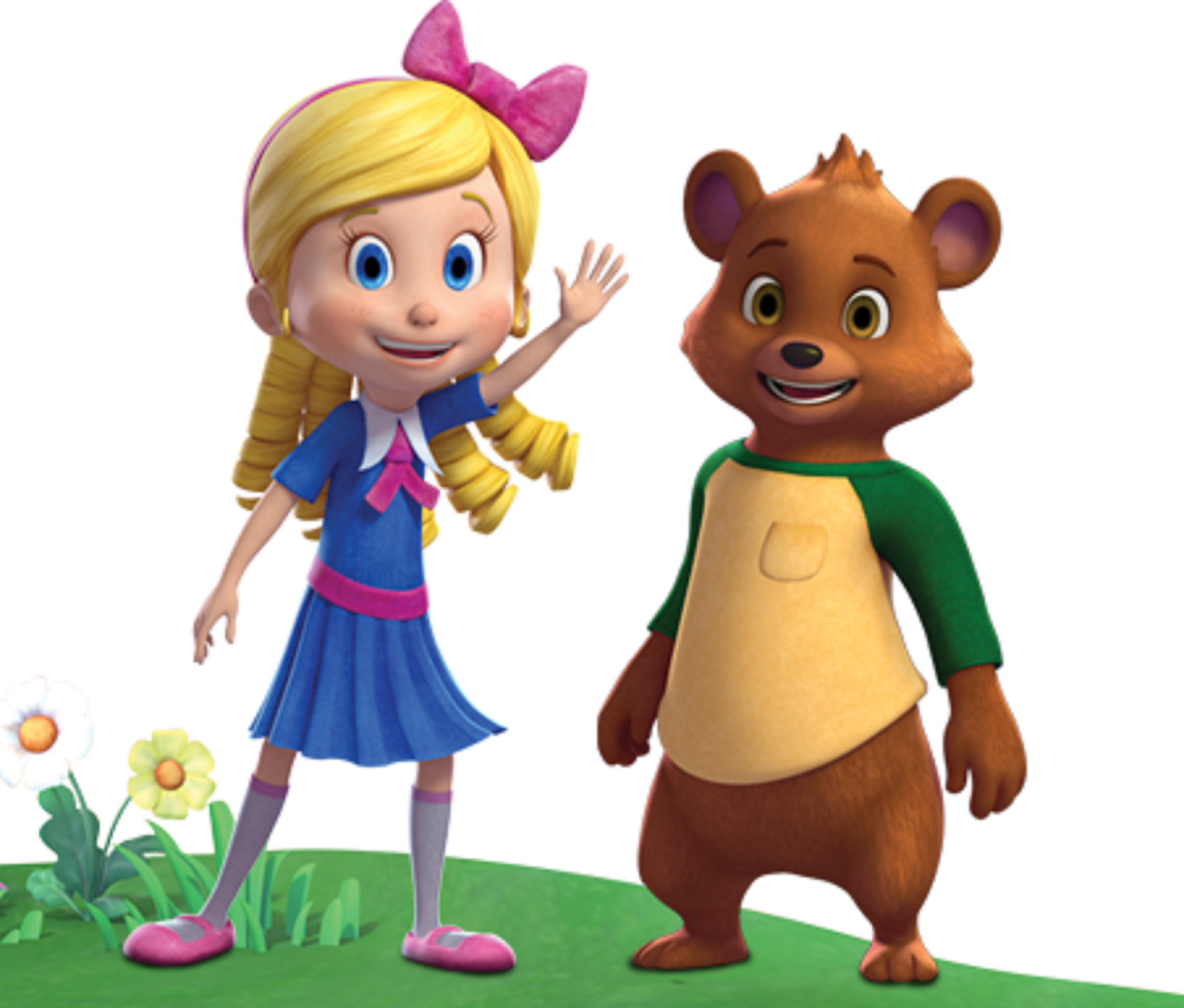 It is a picture of Candid Pictures of Goldie and Bear