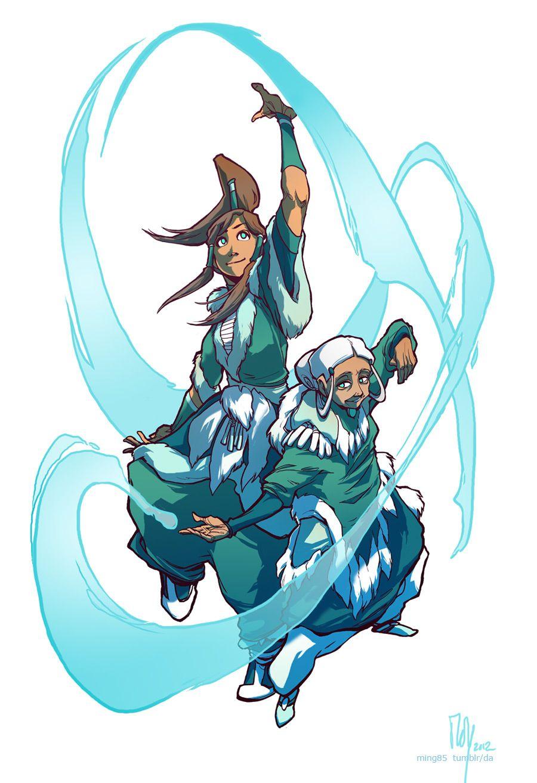 Master Katara And Avatar Korra Giving An Official Waterbending