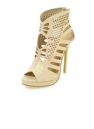 Kvinder sandaler Pumps Platform Kigge Tå Stiletto Hæl Kunstlæder Sko (1033105) @ floryday.com