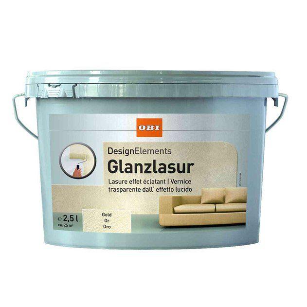Obi Design Elements Glanzlasur Gold 2 5 L Kaufen Bei Obi Design Element Design Wolle Kaufen