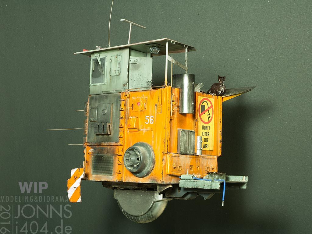 Garbage hover truck, 1:35