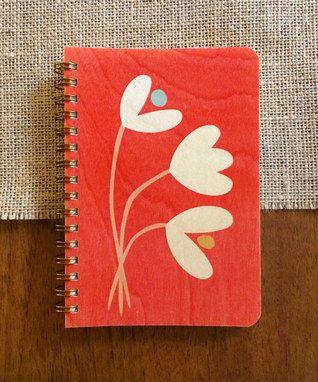 Tulips Pocket-Size Wood Notebook