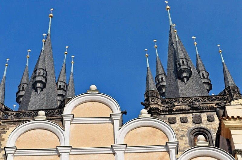 The towers of  the Church of Our Lady before the Tyn
