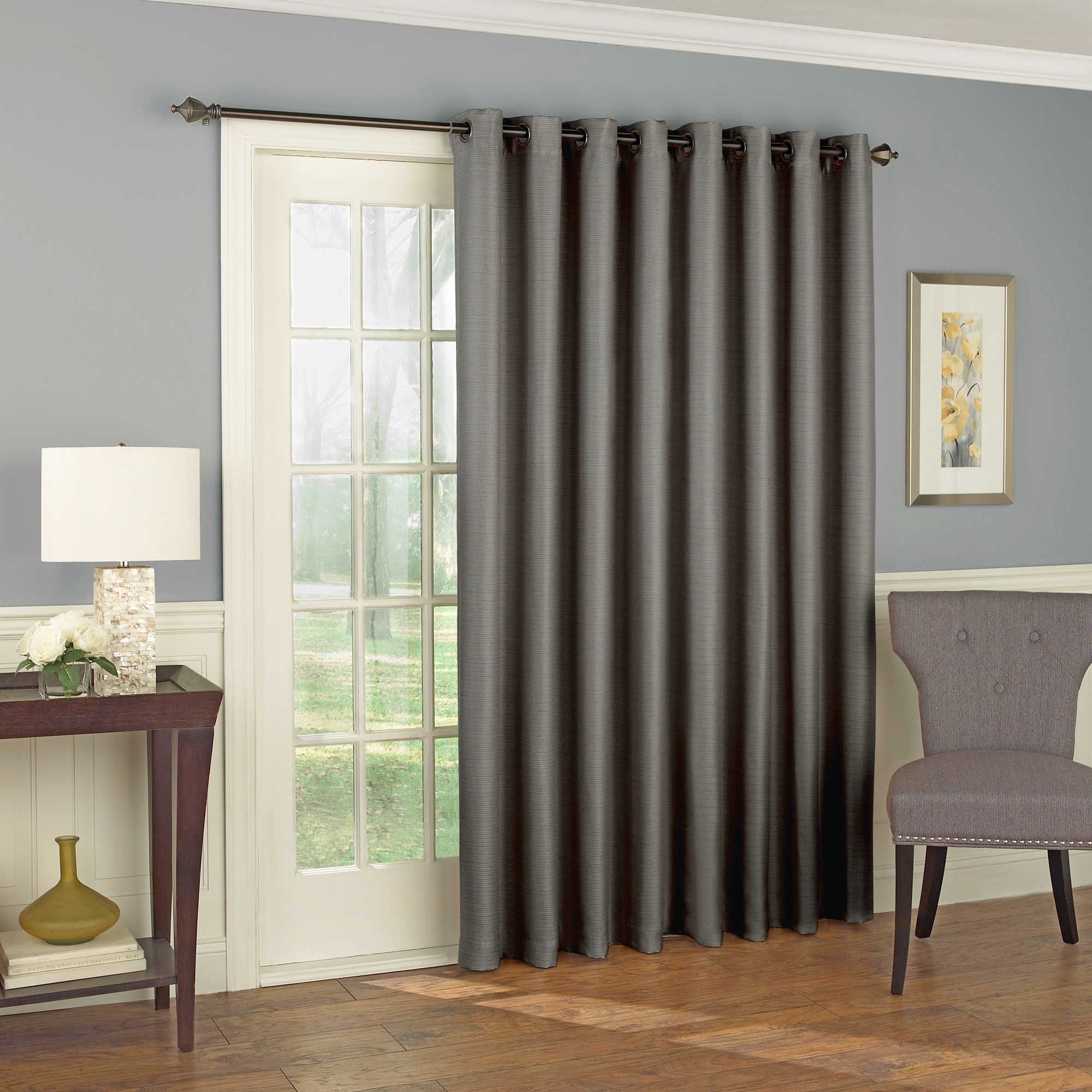 Eclipse Bryson Grommet Room Darkening Patio Door Curtain Panel
