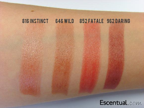 3561656f Dior Addict Lipstick in 816 Instinct, 646 Wild, 852 Fatale, 962 ...