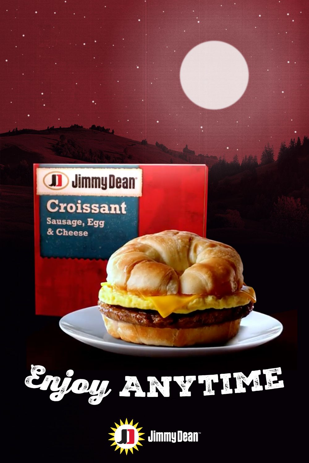Enjoy jimmy dean anytime sausage egg and cheese