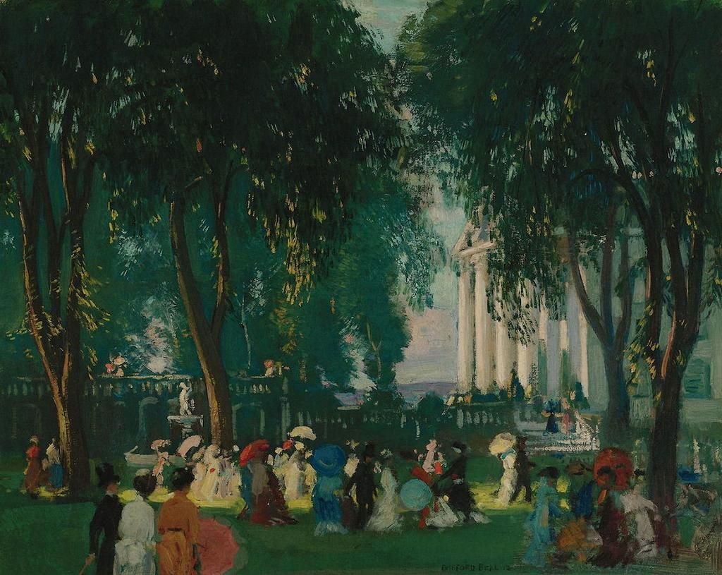 Gifford Beal(1879ー1956)「Reception in a park」(1912)