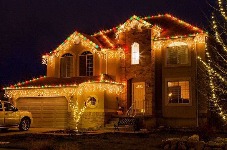 Outdoor Christmas Lights Ideas For The Roof Outdoor christmas