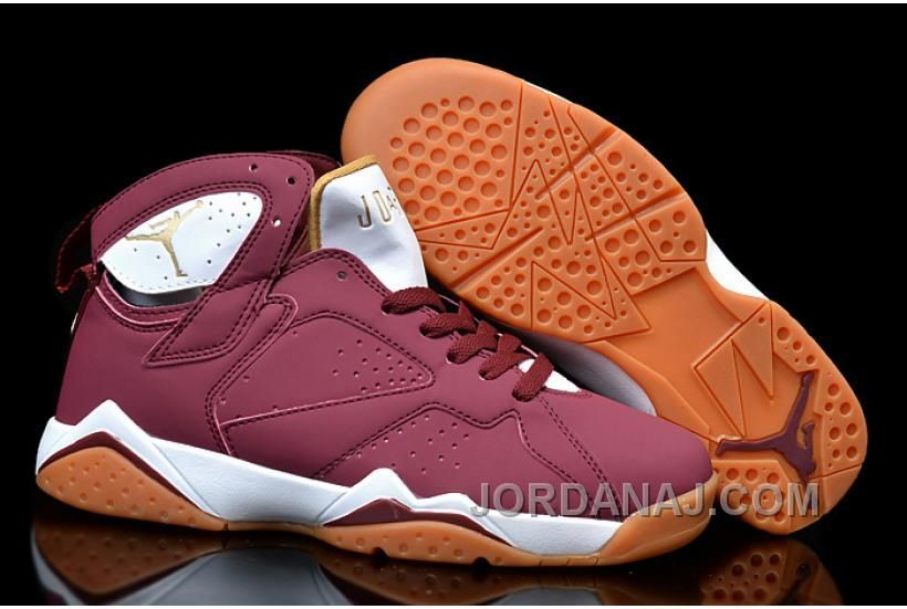 "d4eecb165e59 WOMENS NIKE AIR JORDAN 7 GIRLS ""CIGAR"" TEAM RED WHITE-GUM LIGHT BROWN Only   89.00"