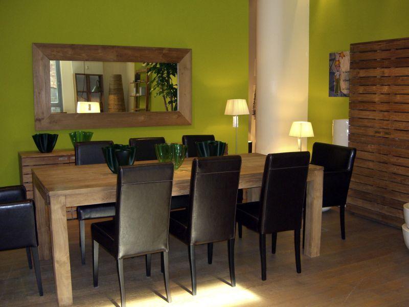 Vert et bois et bois brut en palissade pour un côté plus naturel ...