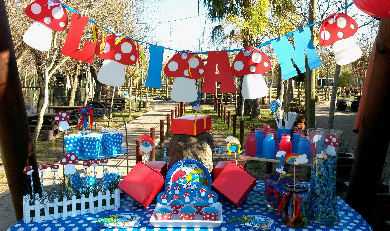 Smurfie fun party PartyBoutique Kids party decor Bugzplaypark