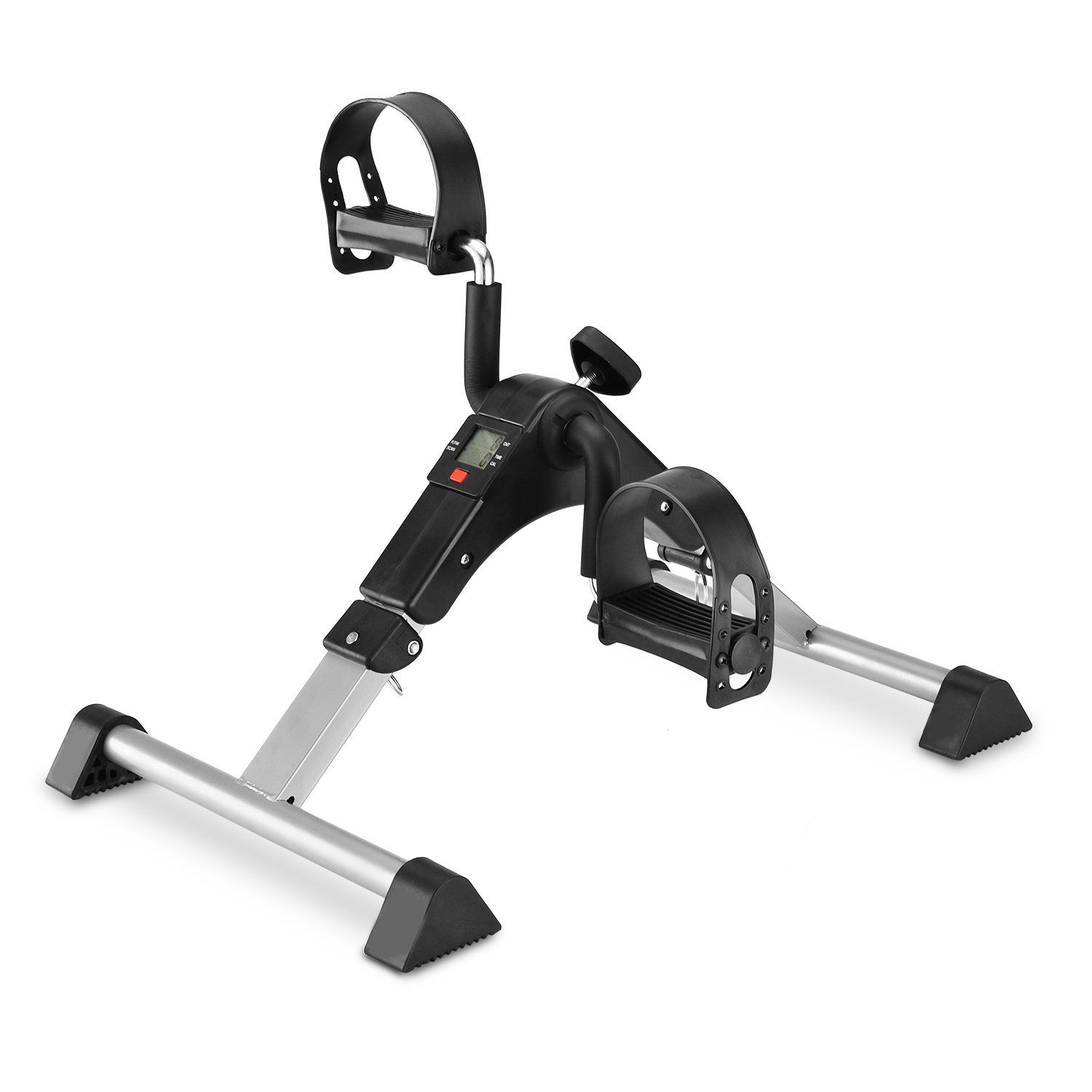 Pedal Exerciser Mini Desk Cycle Exercise Bike With Lcd Monitor Foldable Black Grey Find Out More At T In 2020 Biking Workout Mini Exercise Bike No Equipment Workout