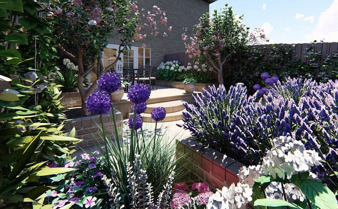 Sunday Morning Courtyard Garden Inspiration We Love Our 3d Concepts 3ddesign Gardendesign Garden Landscape Structure Ideal Gardens Landscape Plan