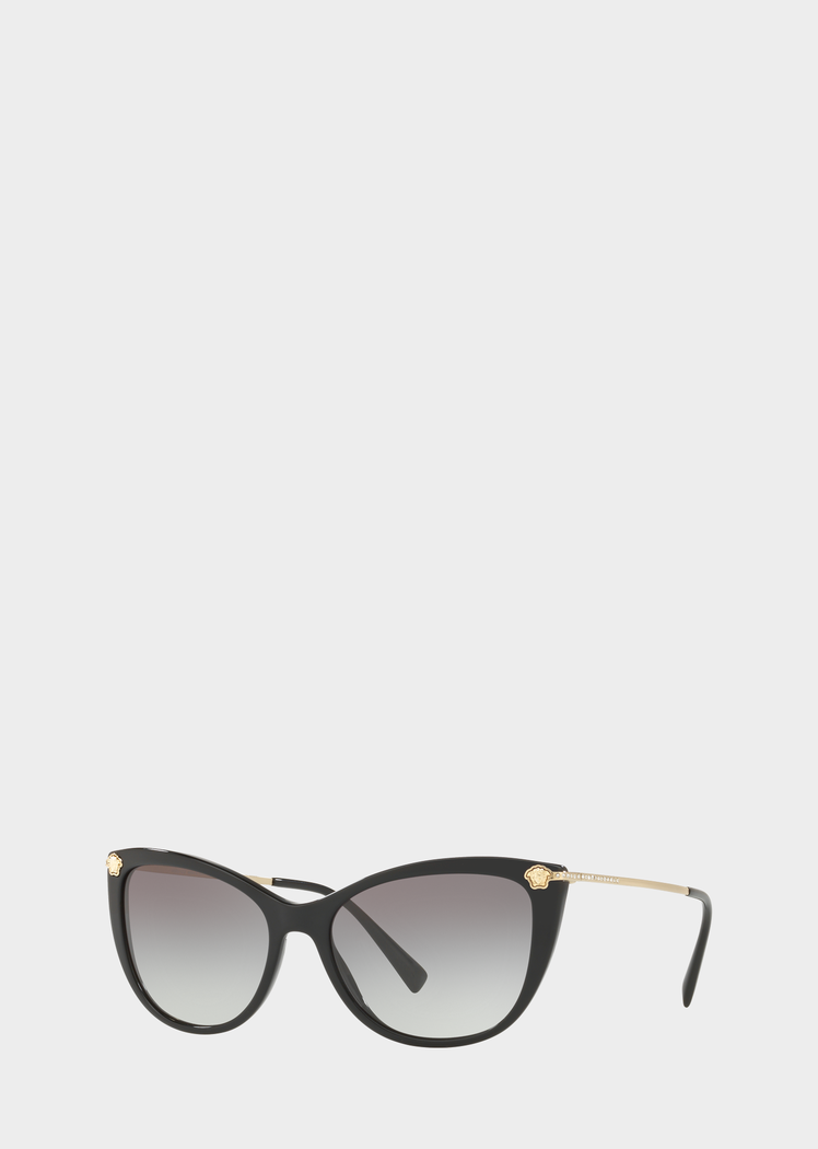 0d2232033542 Black Medusa Strass Sunglasses - Black Sunglasses