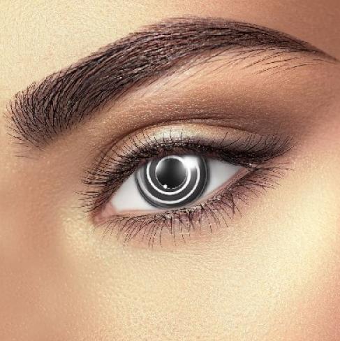 Black Spiral Contact Lenses 1 Pair Halloween Contact Lenses Halloween Eye Contacts Contact Lenses