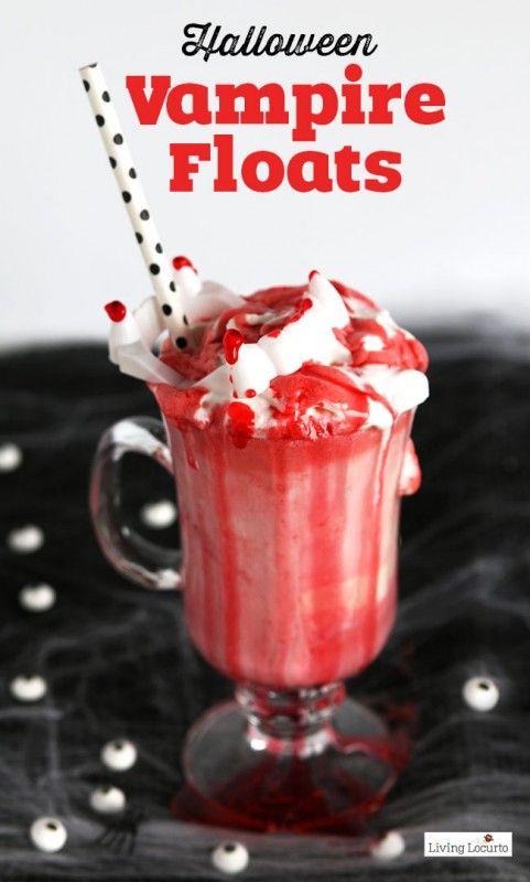Vampire Ice Cream Floats Kids fun foods, Halloween vampire and - halloween drink ideas for kids
