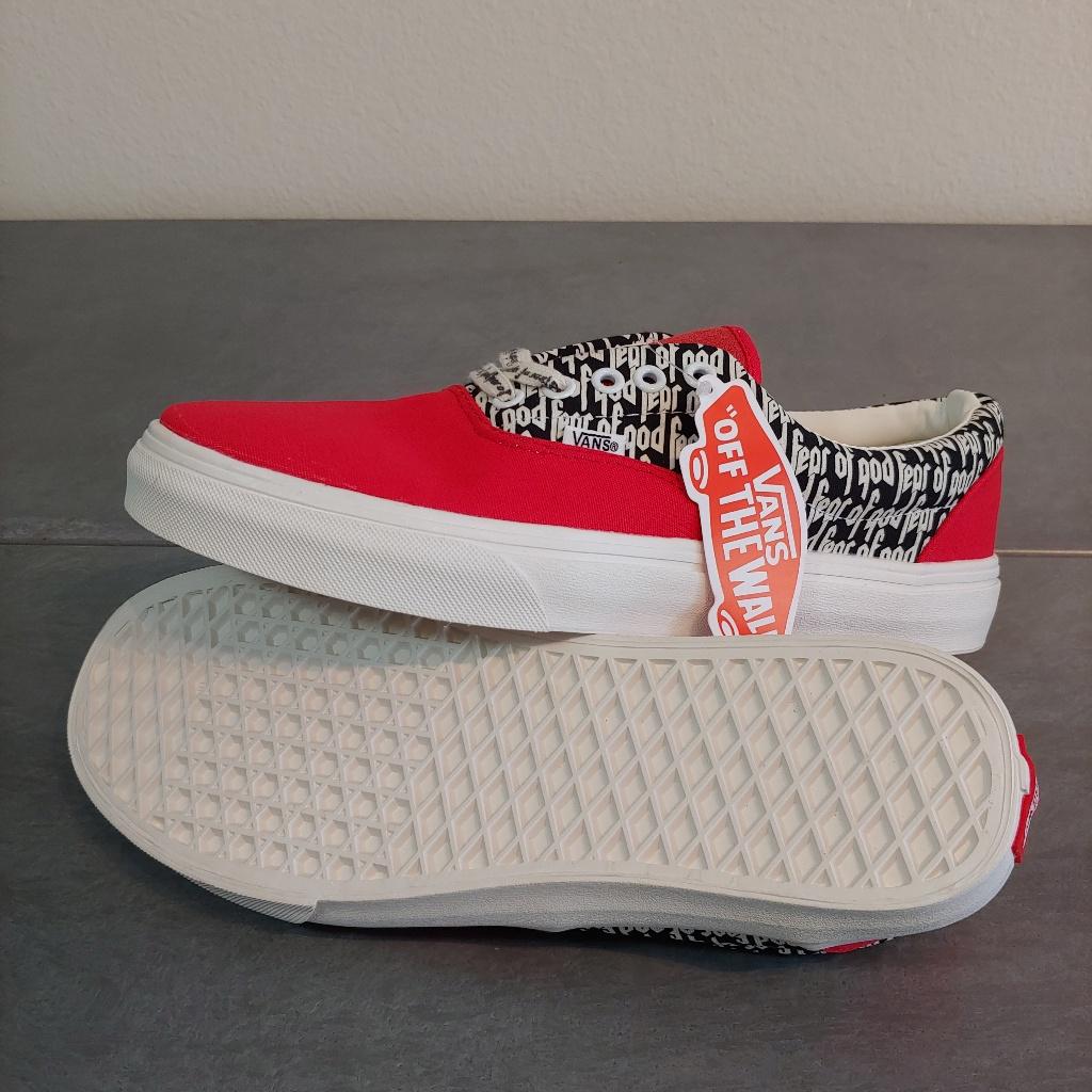 Vans Shoes Vans X Fear Of God Size 10 5 Color Black Red Size 10 5 Vans Vans Shoes Athletic Shoes