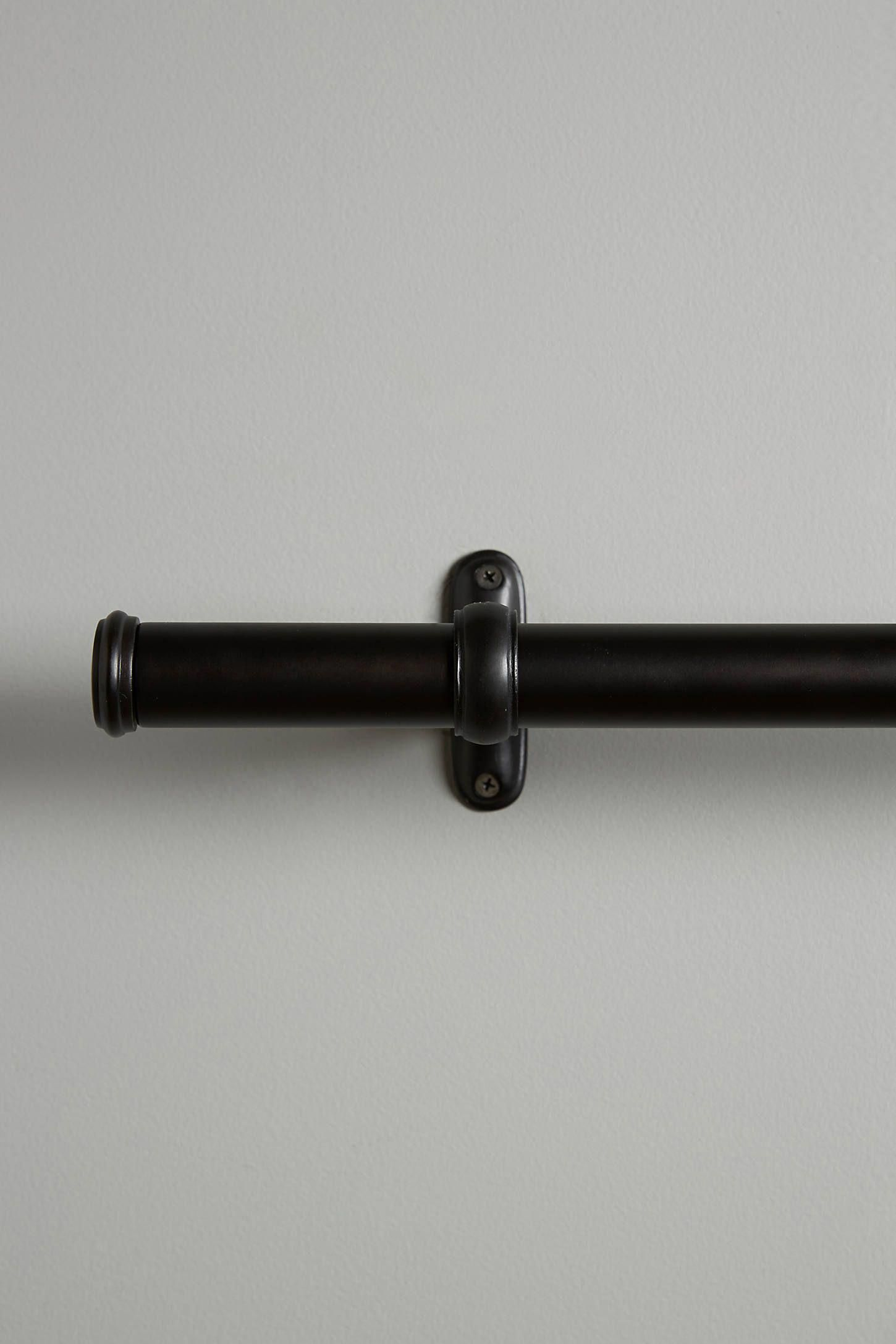 Constance Curtain Rod By Anthropologie In Black Hardware