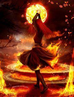 fire elemental girl