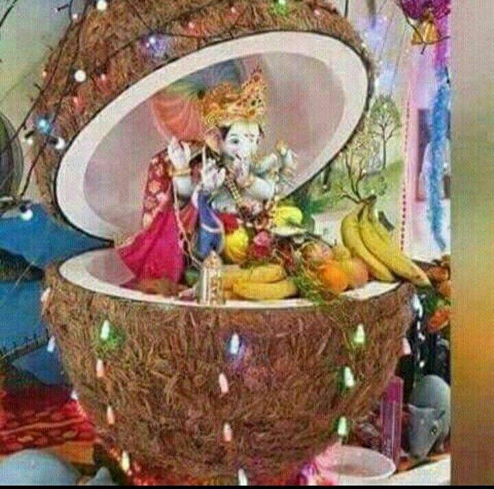 Lord Ganesha Lord Krishna Indian Gods Morning