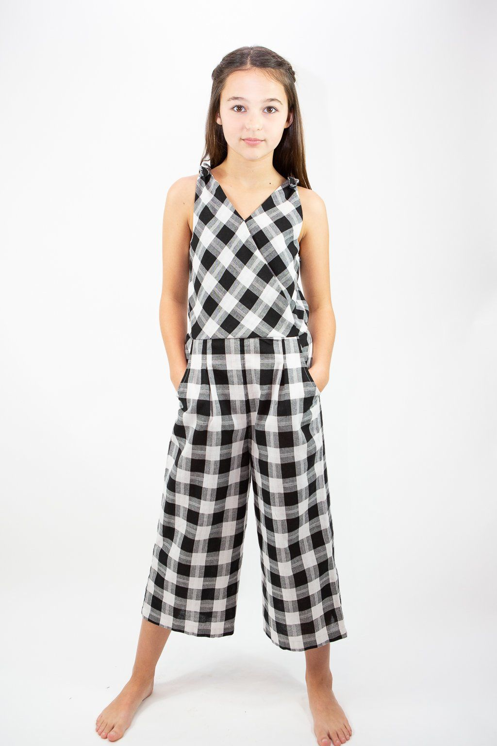 d01005d76c Habitual Girl Kasie Yarn Dyed Plaid Jumpsuit in 2019