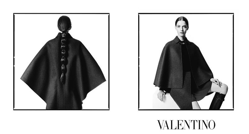 Consistently Juxtaposed Campaigns - The Latest Valentino Fall/Winter Advertisements Pair Images (VIDEO)