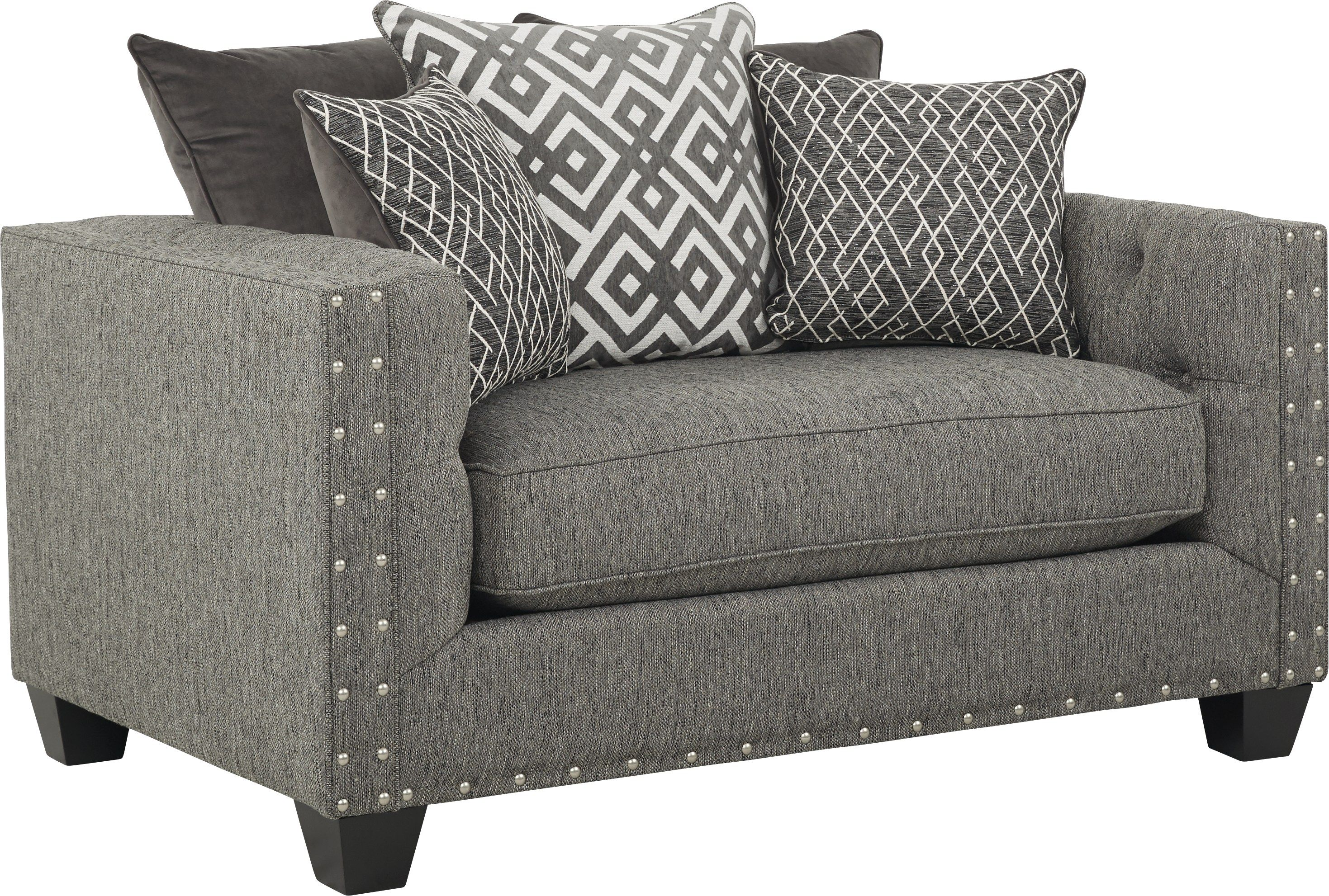 Cindy Crawford Home Chelsea Hills Gray Chair