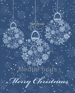 Beautiful Christmas New Year Card Vector Stock Image PK123388