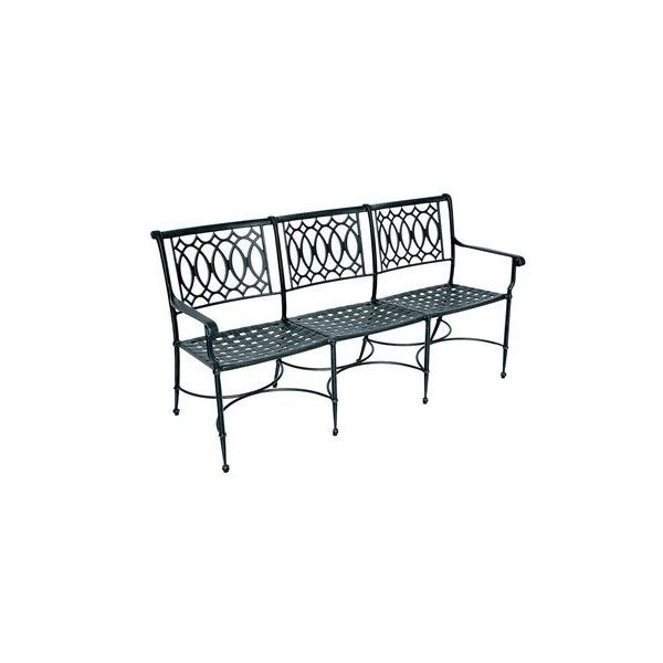 Windham Castings American Gothic Cast Aluminum Metal Bench ($1,093) ❤ Liked  On Polyvore Featuring
