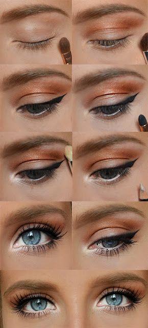 Products: ICING (the bronze eyeshadow) UD Naked (naked and virgin) IsaDora inliner kajal 56 blonde pencil Maybelline black gel eyeliner Maybelline the Rocket mascara