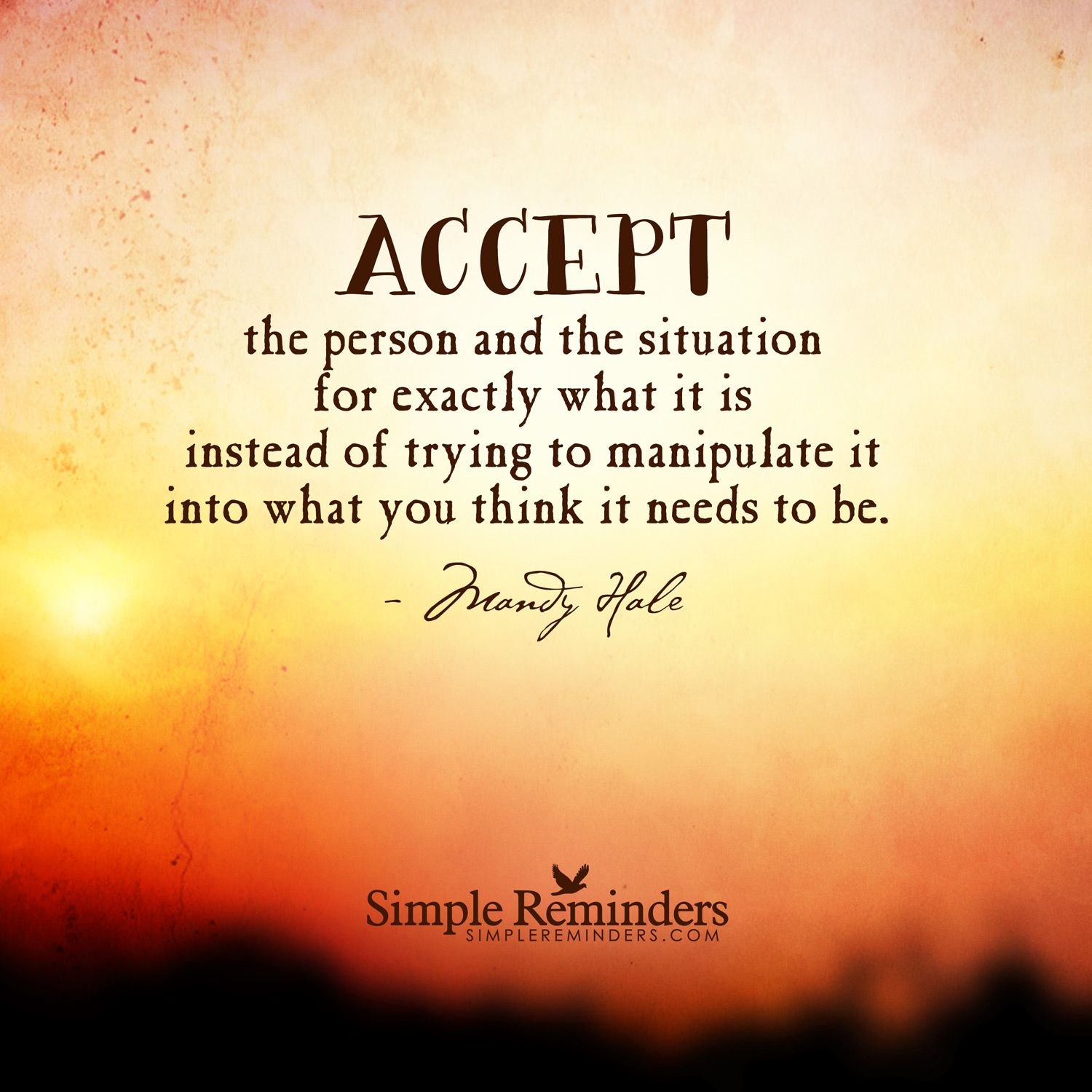 How to accept a person 4