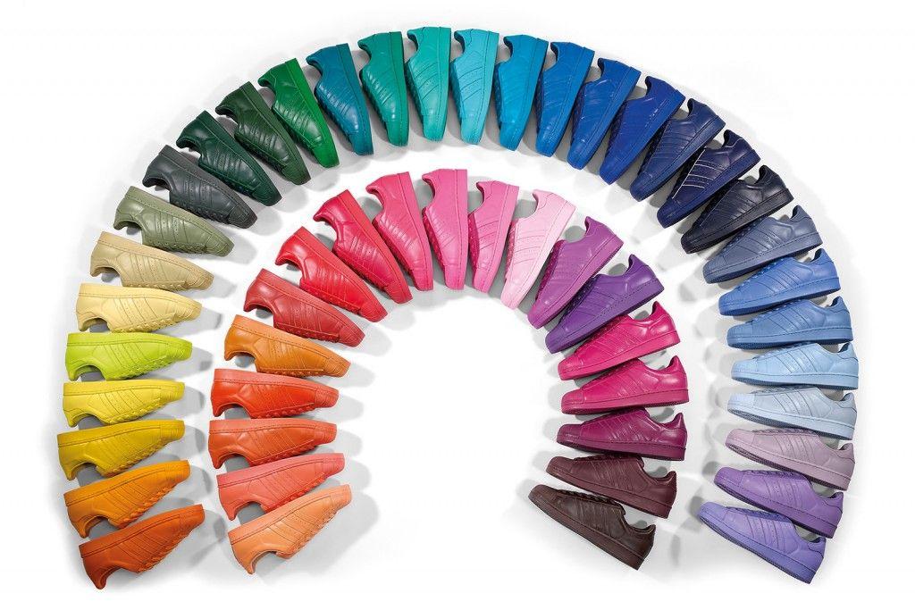 adidas Originals Herren X Pharrell Williams Superstar Supercolor Trainer Sneakers Orange