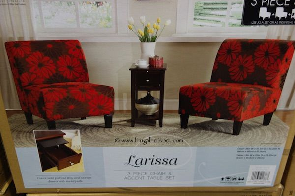 Ave Six Larissa 3Piece Chair Accent Table Set Costco