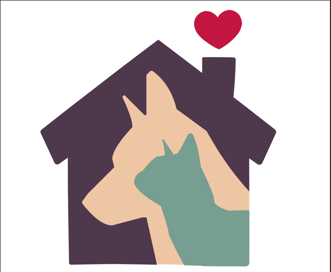 Giving Back Animal Shelter Logo Pet Adoption Pet Shop Logo