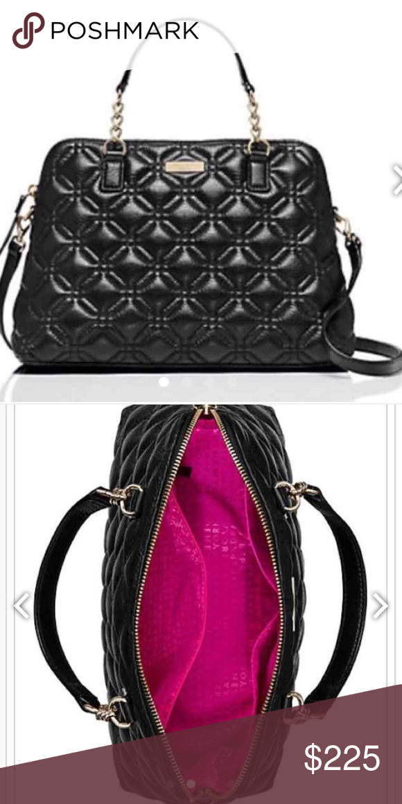 d1554bc25416 LARGE KATE SPADE QUILTED ASTON ASTOR COURT ELENA HANDBAG. Pebble leather  with a shimmer finish