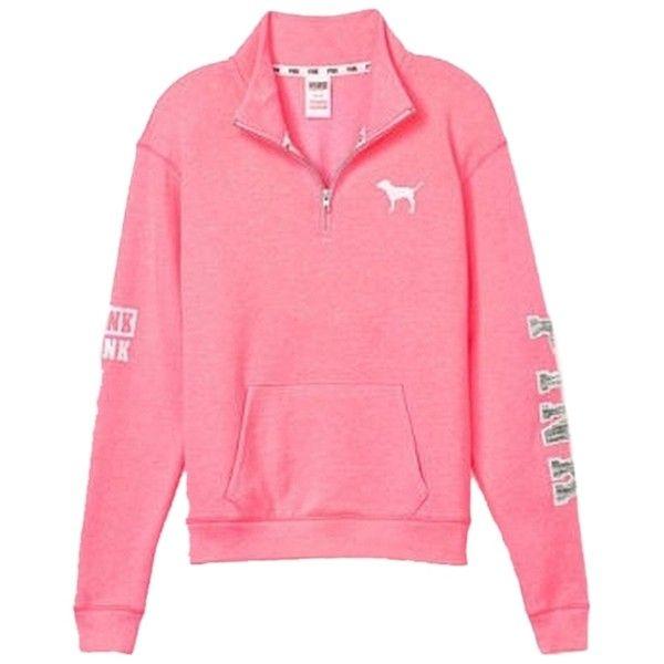Pre-owned PINK By Victoria's Secret Half Zip Boyfriend Sweatshirt ...