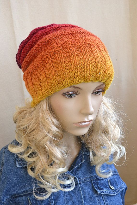 knitted multicolor kauni lace beani cap/hat by dosiak on Etsy, $20.00